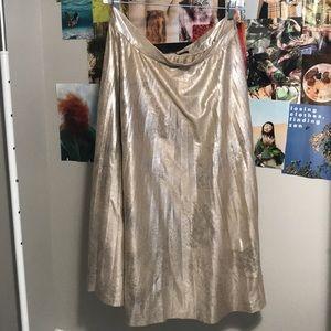 Gold Skirt from Zara